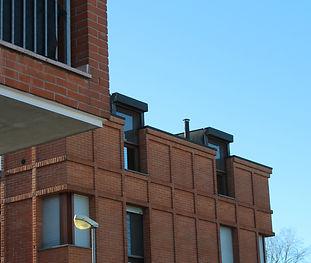 Edificio mattone a vista