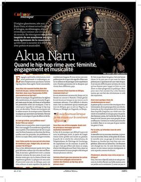 Interview - Akua Naru : Quand le hip-hop rime avec féminité, engagement et musicalité
