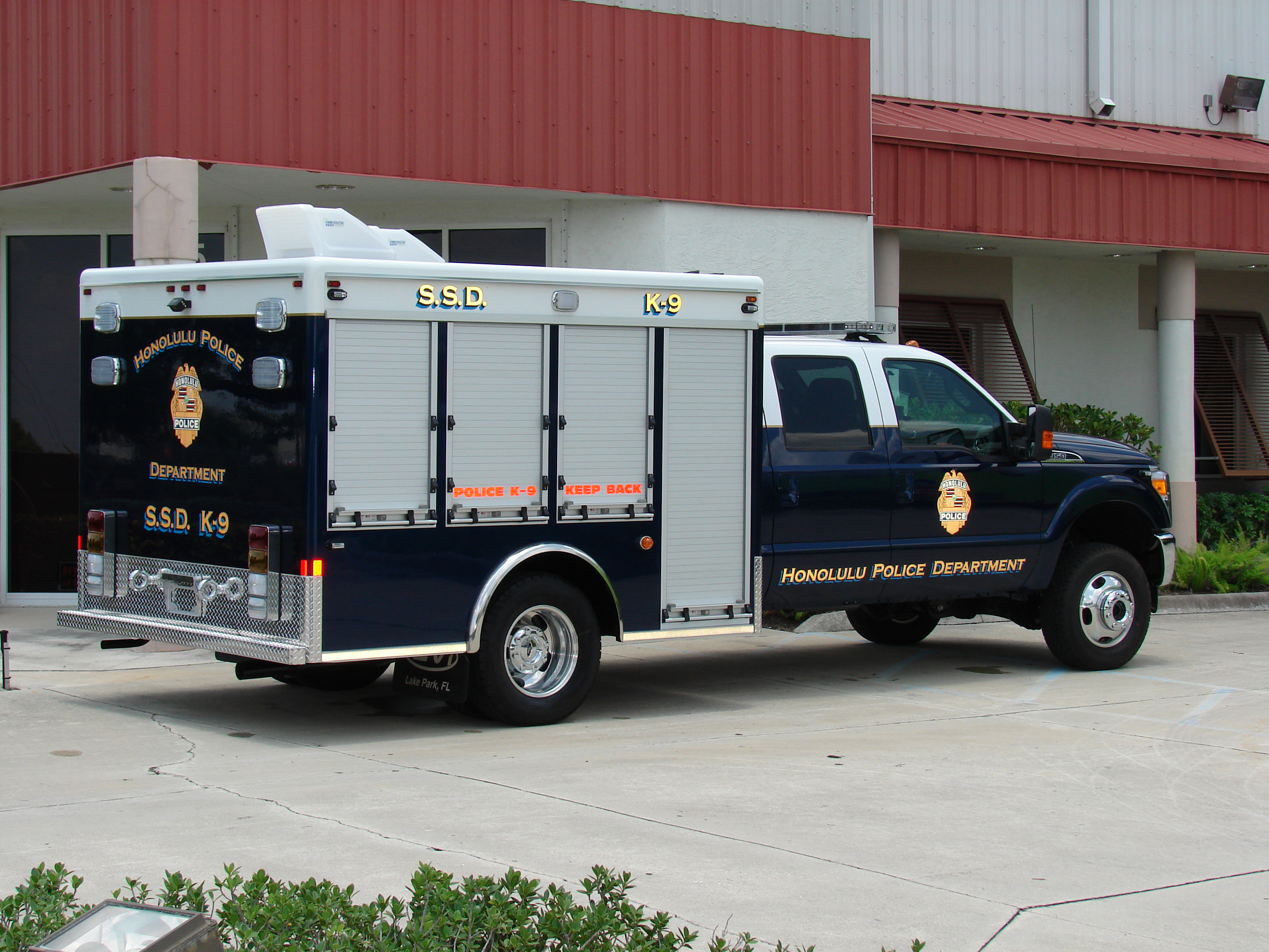 10-Ft. K-9 Bomb Detection Truck