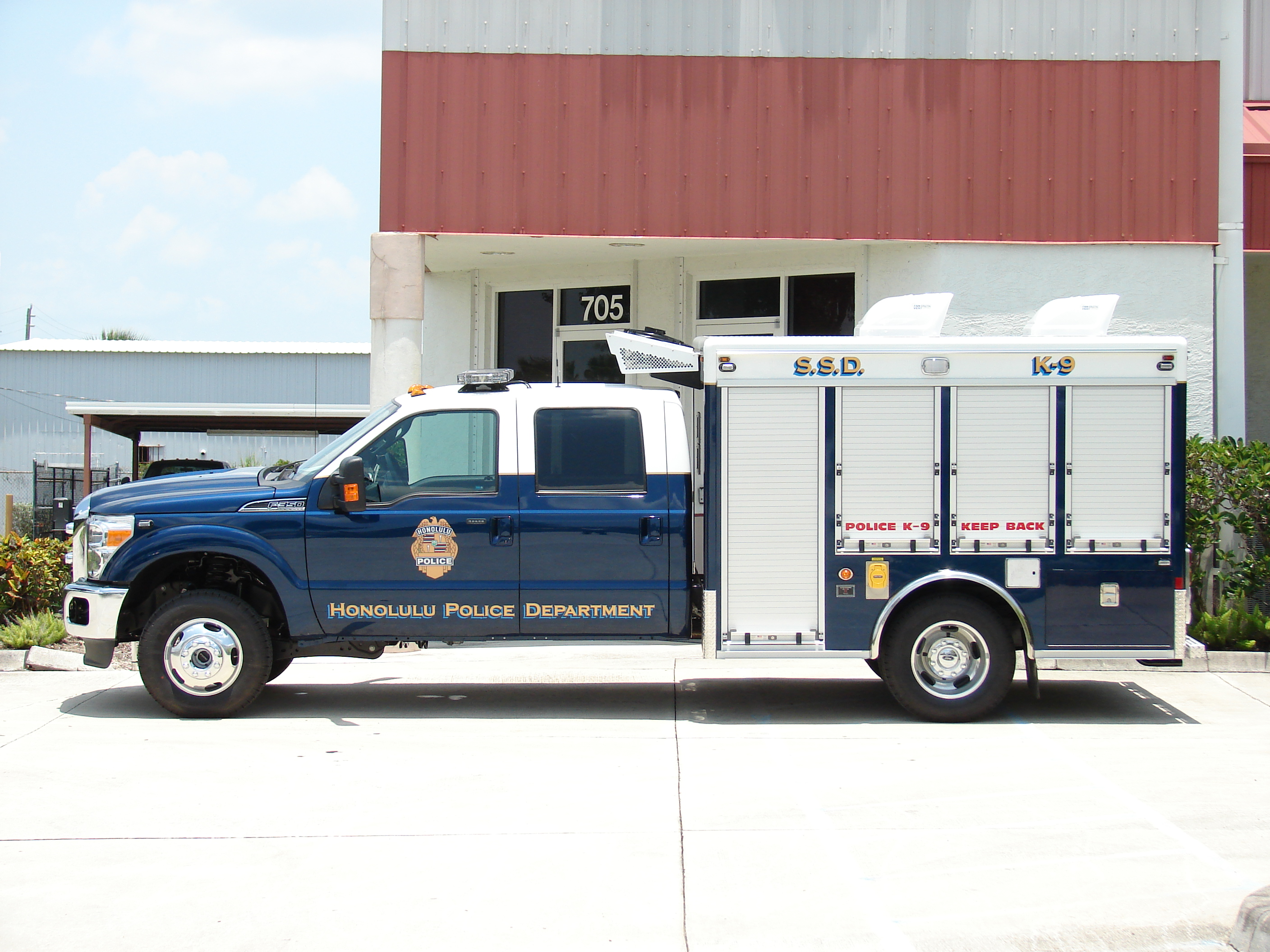 EVI 10-Ft. K-9 Bomb Detection Truck