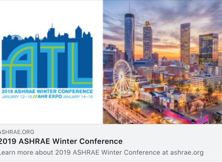 2019 ASHRAE in Atlanta Georgia