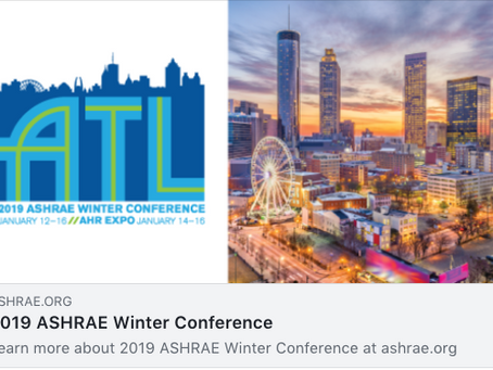 2019 ASHRAE in Atlanta Georgia