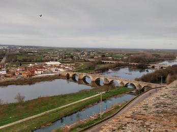 A cidade murada de Ciudad Rodrigo.
