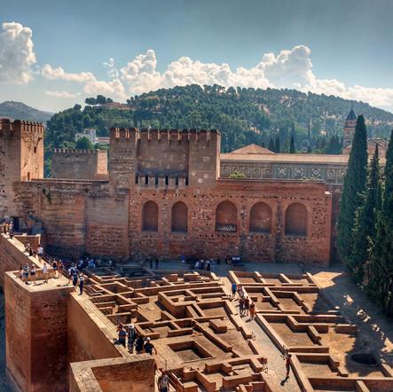 Visitando Alhambra em Granada - Espanha