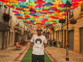 Visitando Águeda e a rua dos chapéus coloridos.