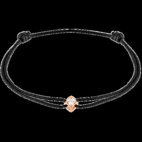 Bracelet sur cordon Le Cube Diamant Or rose
