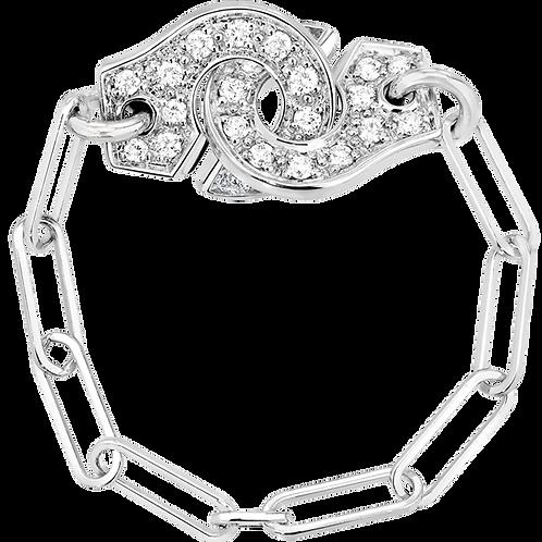 Bague chaîne Menottes dinh van R7,5 Or blanc, diamants