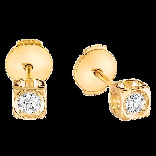 Puces d'oreilles Le Cube Diamant dinh van Or jaune, diamants