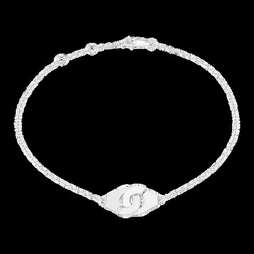 Bracelet sur chaîne Menottes dinh van R8 Or blanc
