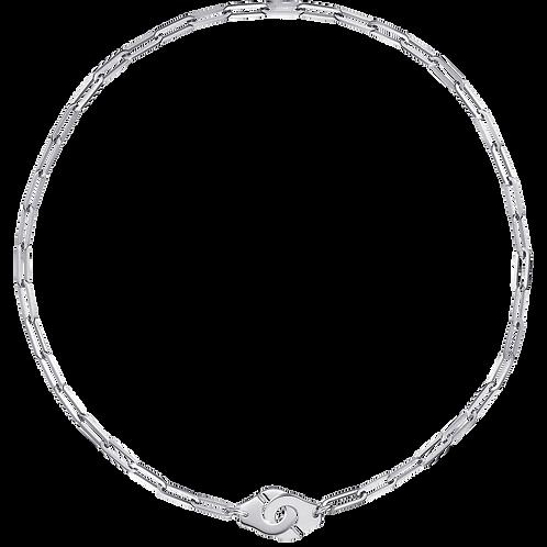 Collier Menottes dinh van R12 Or blanc