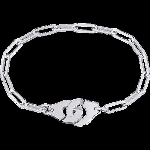 Bracelet sur chaîne Menottes dinh van R12 Or blanc