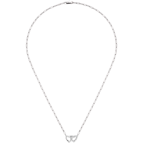 Collier Double Coeurs dinh van R9 Or blanc, diamants