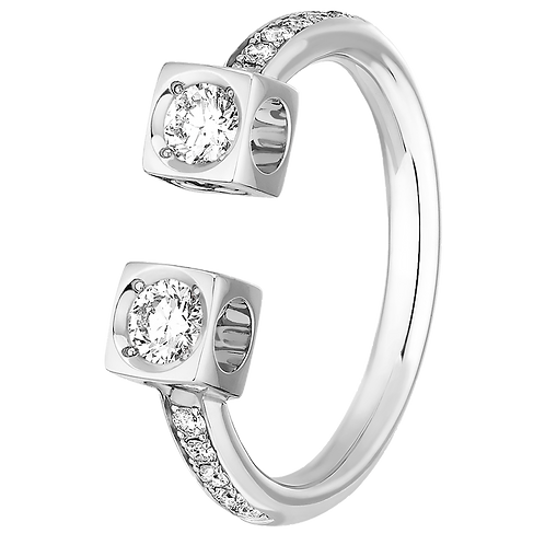 Bague Le Cube Diamant dinh van Or blanc, diamants