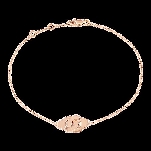 Bracelet sur chaîne Menottes dinh van R8 Or rose