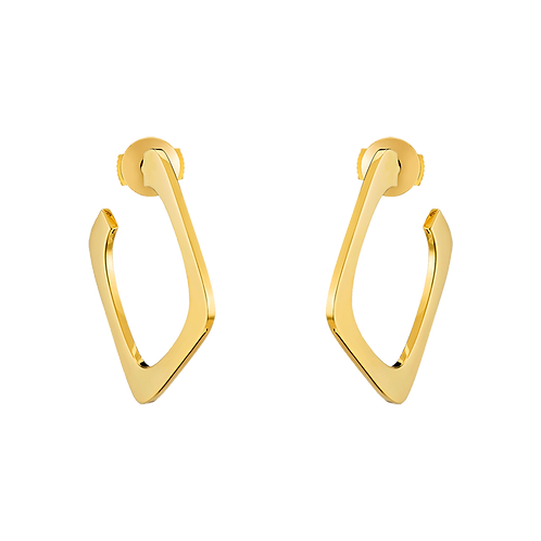Créoles Impression Or jaune