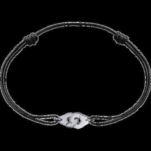 Bracelet sur cordon Menottes R8 dinh van Or blanc