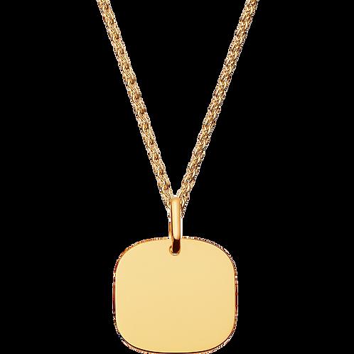 Pendentif Plaque Carrée 12mm dinh van Or jaune