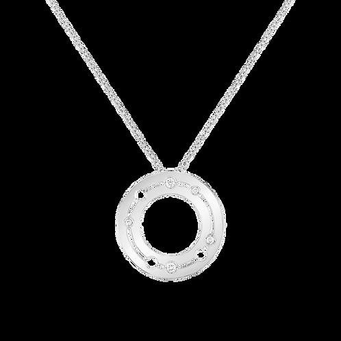Pendentif Pulse dinh van 20mm Or blanc, diamants