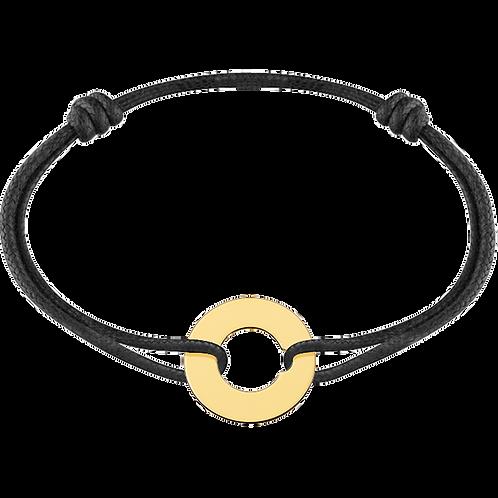 Bracelet sur cordon Cible 16mm dinh van Or jaune