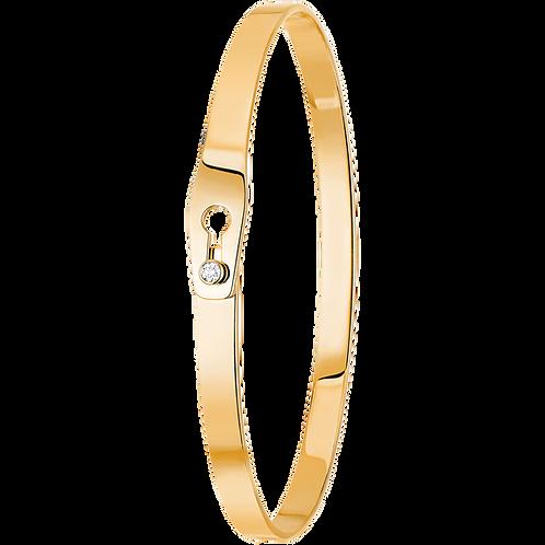Bracelet Serrure dinh van Or jaune, diamant