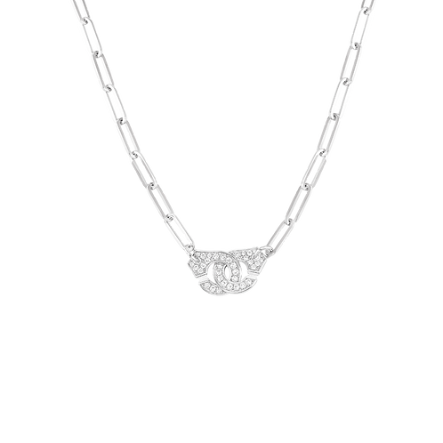 Collier Menottes dinh van R12 Or blanc, diamants