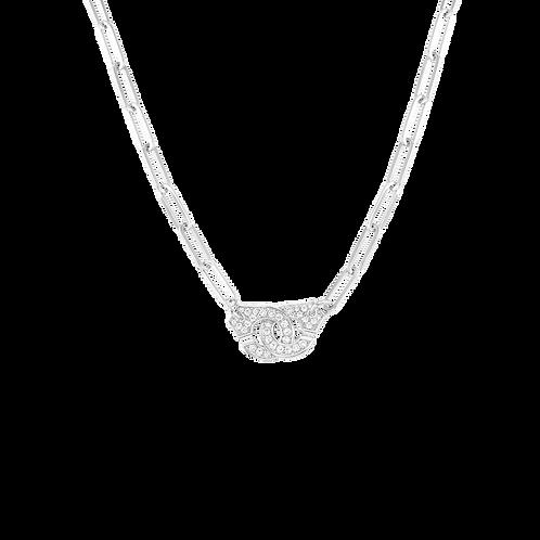 Collier Menottes dinh van R12 Or blanc, diamants