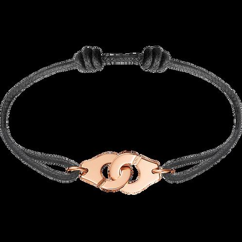 Bracelet sur cordon Menottes R12 dinh van Or rose