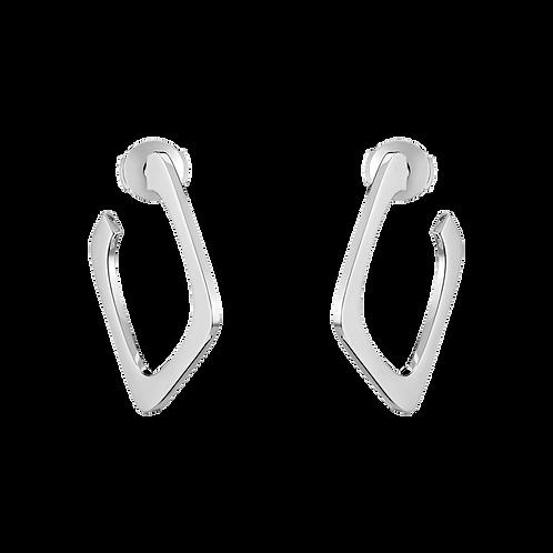 Créoles Impression Or blanc