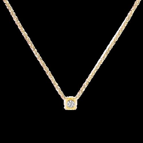Collier sur chaîne Le Cube Diamant dinh van Or jaune, diamant