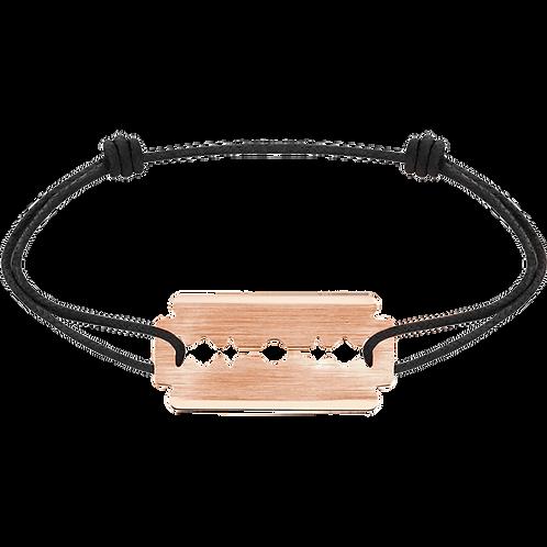 Bracelet sur cordon Lame de Rasoir dinh van Or rose