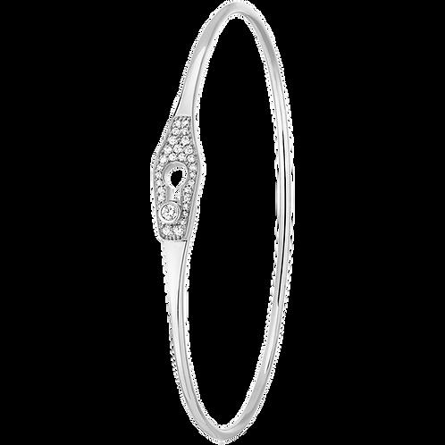 Bracelet Serrure Jonc dinh van Or blanc, diamants