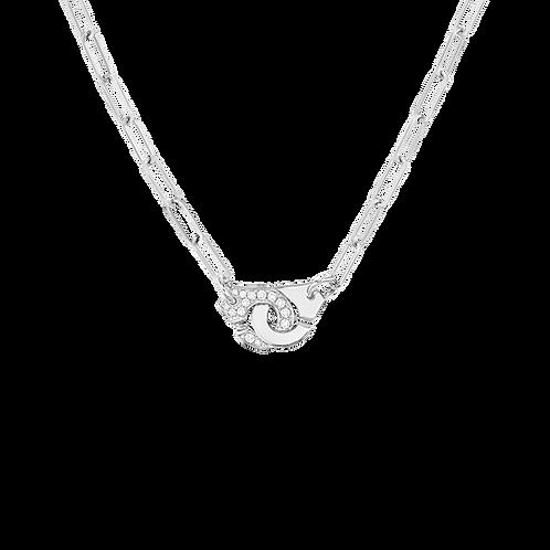 Collier Menottes dinh van R10 Or blanc, diamants
