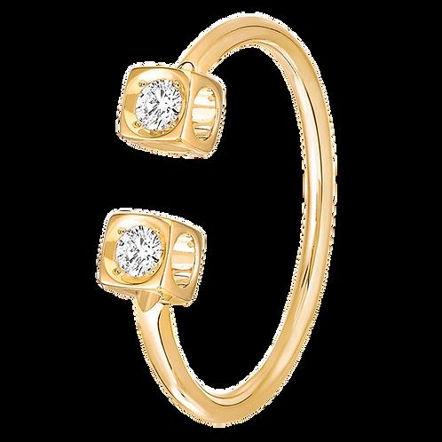 Bague Le Cube Diamant dinh van Or jaune, diamants