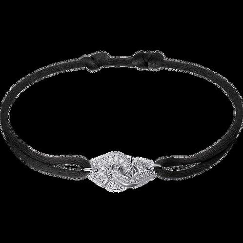 Bracelet sur cordon Menottes R10 dinh van Or blanc, diamants