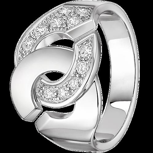 Bague Menottes R12 dinh van Or blanc, diamants