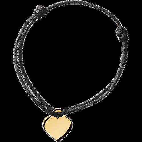 Bracelet sur cordon Coeur dinh van Or jaune