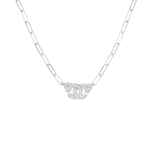 Collier Menottes dinh van R10 Or blanc, diamants