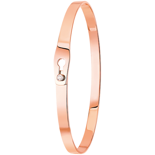 Bracelet Serrure dinh van Or rose, diamant