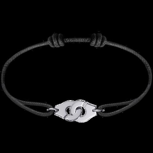 Bracelet sur cordon Menottes R10 dinh van Or blanc