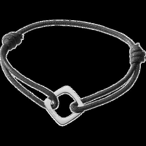 Bracelet sur cordon Impression dinh van Or blanc