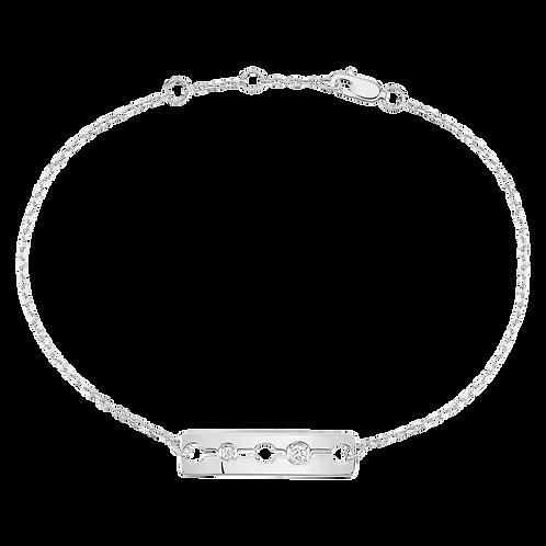 Bracelet sur chaîne Pulse dinh van Or blanc, diamants