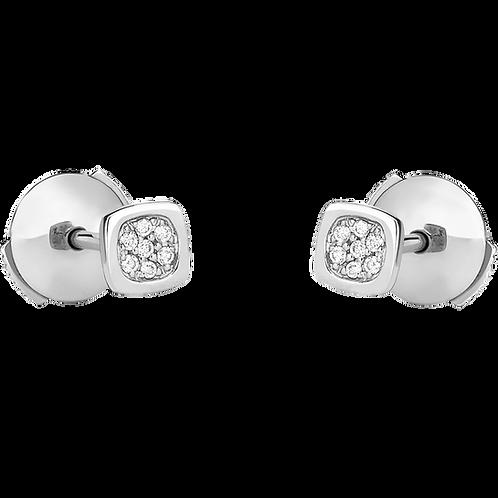 Puces d'oreilles Impression Domino dinh van Or blanc, diamants