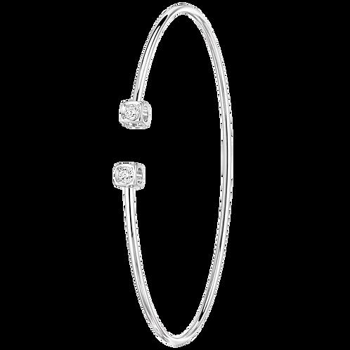 Bracelet Flex Le Cube Diamant dinh van Or blanc, diamants