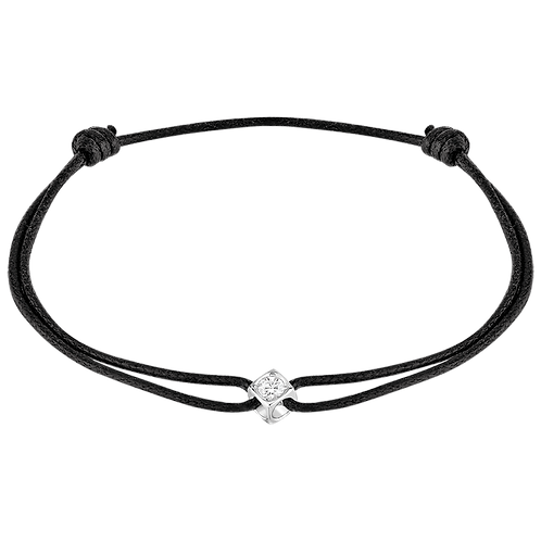 Bracelet sur cordon Le Cube Diamant Or blanc