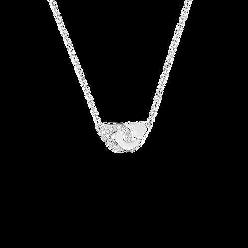 Collier Menottes dinh van R8 Or blanc, diamants