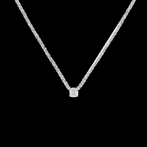 Collier sur chaîne Le Cube Diamant dinh van Or blanc, diamant