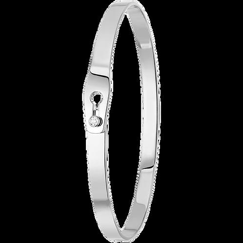 Bracelet Serrure dinh van Or blanc, diamant