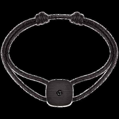 Bracelet sur cordon Zen dinh van Titane, diamant