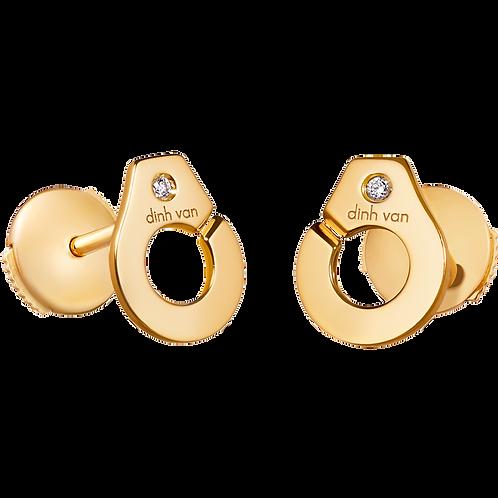 Puces d'oreilles Menottes dinh van R7,5 Or jaune, diamants
