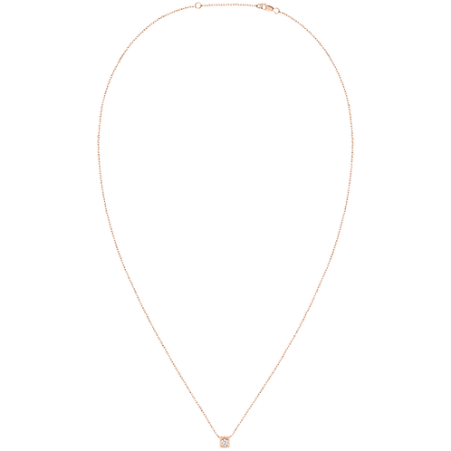 Collier sur chaîne Le Cube Diamant dinh van Or rose, diamant